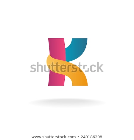 k logo blue orange icon sign symbol letter Stock photo © blaskorizov