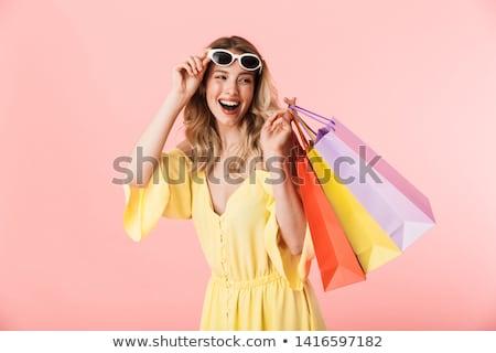 jonge · gelukkig · student · meisje · aantrekkelijk · meisje - stockfoto © deandrobot