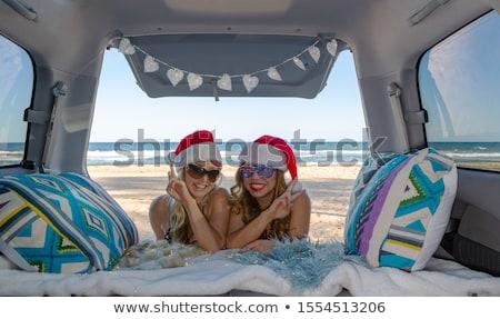 mutlu · kadın · iyi · gün · avustralya · turizm - stok fotoğraf © lovleah