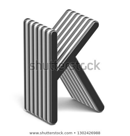 Zwart wit doopvont brief 3D 3d render Stockfoto © djmilic