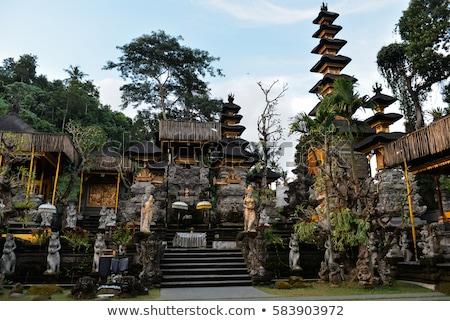 Templo bali Indonésia floresta filme arte Foto stock © galitskaya