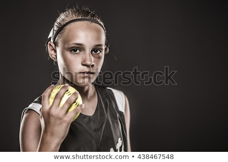 Young Girl Sofball player at Bat Stock photo © 2tun