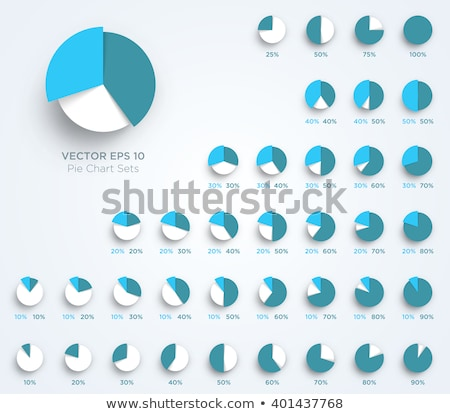 Infographics and Pie Diagram with Figures Data Stock photo © robuart