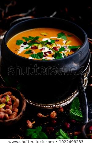 Kabak çorba vegan gıda Stok fotoğraf © zoryanchik