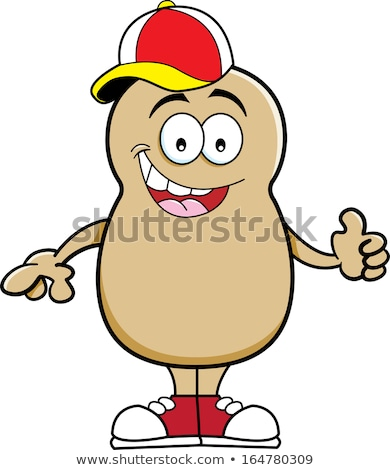 Cartoon potato wearing a baseball cap Stock photo © bennerdesign