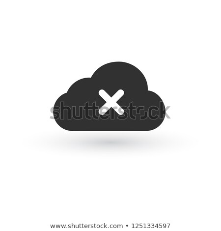 icon cloud icon with cross or delete sign. Vector illustration isolated on white background. Stock photo © kyryloff