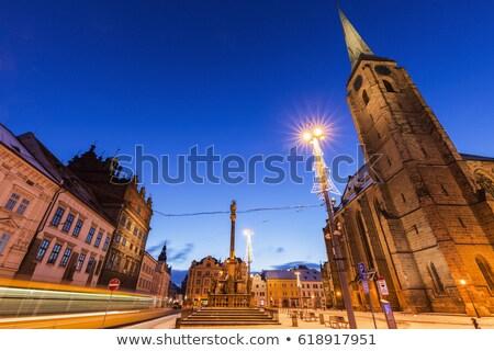 República praça República Checa edifício cidade azul Foto stock © benkrut
