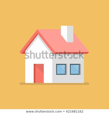 ストックフォト: House For Sale - Colorful Flat Design Style Illustration
