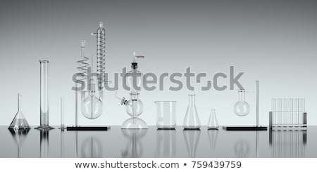 Science equipment with beakers and tubes Stock photo © colematt
