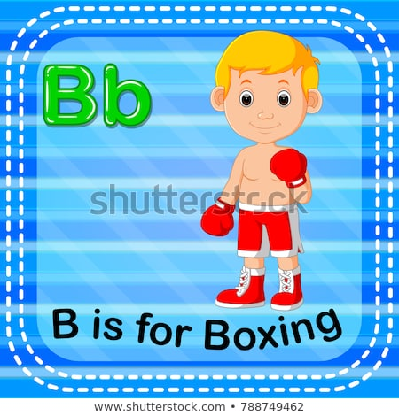 A letter B for boxer Stock photo © colematt