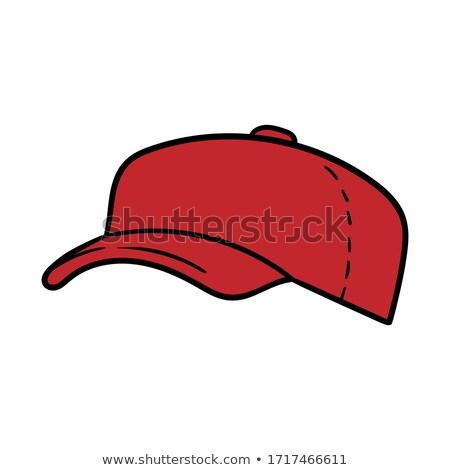 Сток-фото: Man Wearing Hat With American Symbols