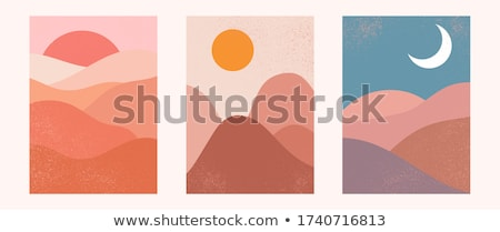 vector set of moon Foto stock © olllikeballoon