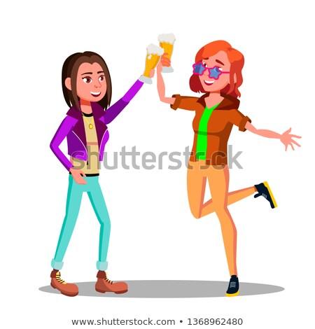 megszégyenített · nő · szemüveg · vektor · terv · illusztráció - stock fotó © pikepicture