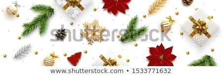 クリスマス · 赤 · 雪 · カバー - ストックフォト © robuart