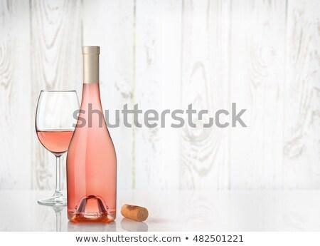 tavola · rosa · vino · insalata - foto d'archivio © dashapetrenko