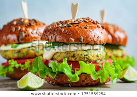 Burger · plaque · table · alimentaire · restaurant - photo stock © lightsource