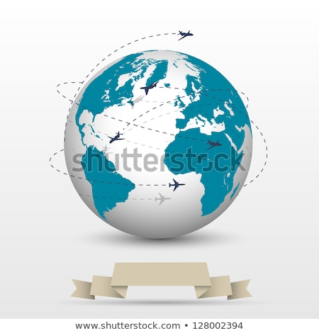 世界中 地球 行 機 ベクトル ストックフォト © robuart