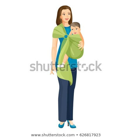Mother Walking with Child, Mom Carrying Small Baby Stock photo © robuart