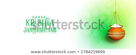 Krisjna pauw veer gelukkig achtergrond vogel Stockfoto © SArts