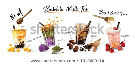 Cute bubble milk tea fresh drink cartoon hand drawn style Stock photo © amaomam