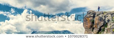 Sommer Wandern Banner Kopfzeile Fuß Stock foto © RAStudio