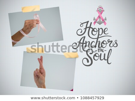 Hope anchors the soul text and Breast Cancer Awareness Photo Collage Stock photo © wavebreak_media
