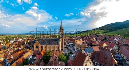 Panoramic view of  Dambach la Ville, Alsace, France stock photo © borisb17