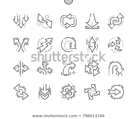 Linear Double arrow icon up and down direction. Web navigation. Simple outline element vector illust Stock photo © kyryloff