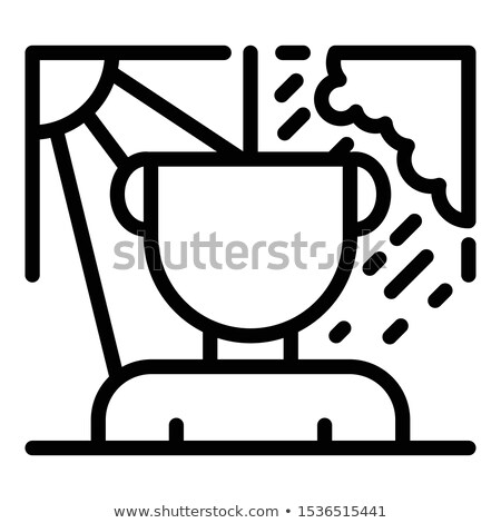 Clouds. Icon on black and white background. Weather vector illustration Stock photo © Imaagio