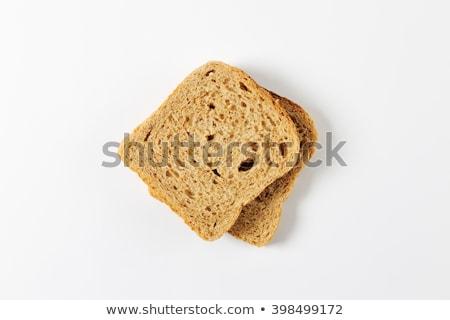 Iki dilimleri bütün tahıl ekmek Stok fotoğraf © Digifoodstock