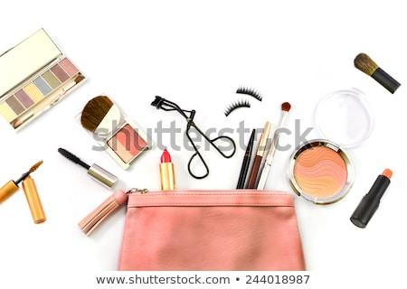 Eyelash curler and make-up brushes isolated on white Stock photo © Melnyk
