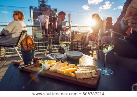 Queijo camembert prato congestionamento monte Foto stock © Alex9500