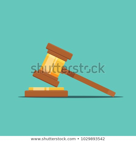 Law and order - flat design style elements Stock photo © Decorwithme