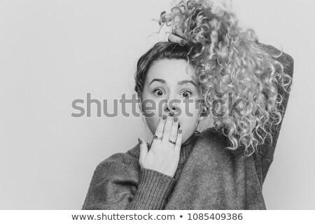 émotionnel drôle Homme poney queue Photo stock © vkstudio
