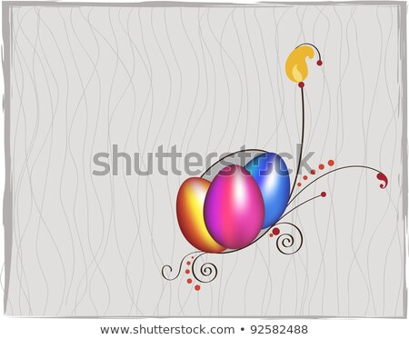 Ovo de páscoa Páscoa cartão dourado ovos religioso Foto stock © LittleCuckoo