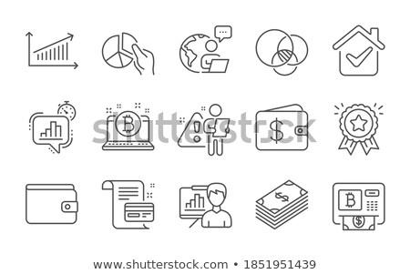 Beruházás elemzés statisztika szett vektor stílus Stock fotó © robuart