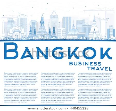Bangkok ufuk çizgisi mavi bo Stok fotoğraf © ShustrikS
