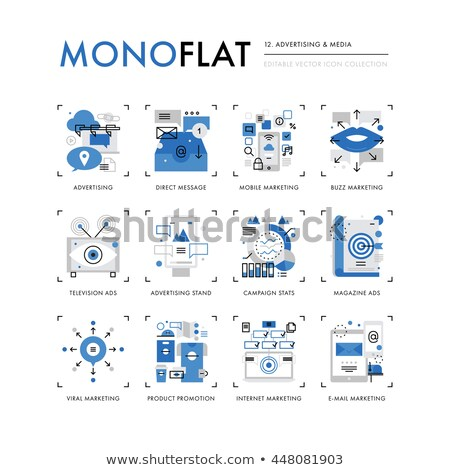 Inbound Marketing Collection Icons Set Vector Stock photo © pikepicture