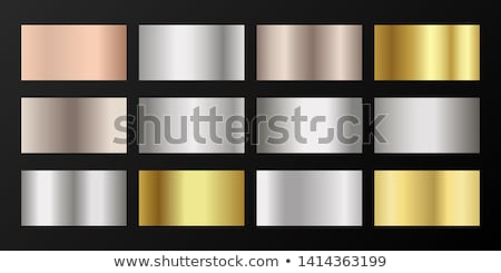 set of metallic steel or platinum gradients Stock photo © SArts