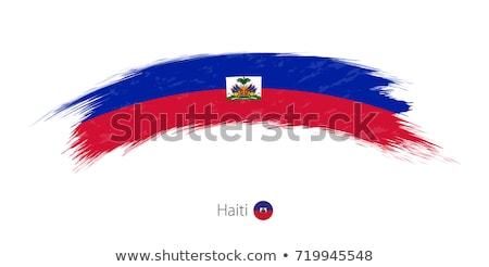 Haiti bandiera bianco texture frame segno Foto d'archivio © butenkow