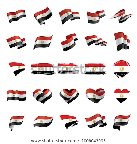 National flag of the Egypt in the shape of a heart and the inscription I love Egypt. Vector illustra Stock photo © butenkow