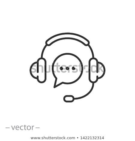 help desk representative icon vector outline illustration Stock photo © pikepicture
