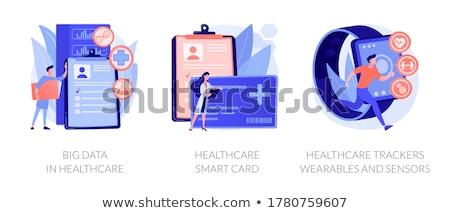 Cardiologie vector metafoor hart stethoscoop kleurrijk Stockfoto © RAStudio