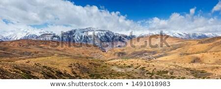 Panoráma völgy falu Himalája tájkép otthon Stock fotó © dmitry_rukhlenko