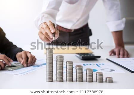 бизнеса бухгалтер банкир два Бизнес-партнер анализ Сток-фото © Freedomz
