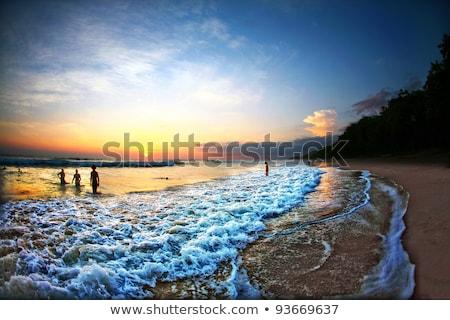 良い · 赤 · 日没 · 海 · 風景 · 背景 - ストックフォト © photoblueice