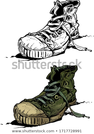 Old Shoes / Sneakers Stock photo © jamdesign