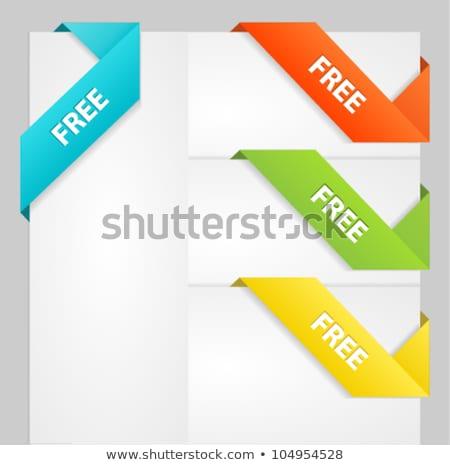 Fresco laranja venda fita papel marcar Foto stock © orson