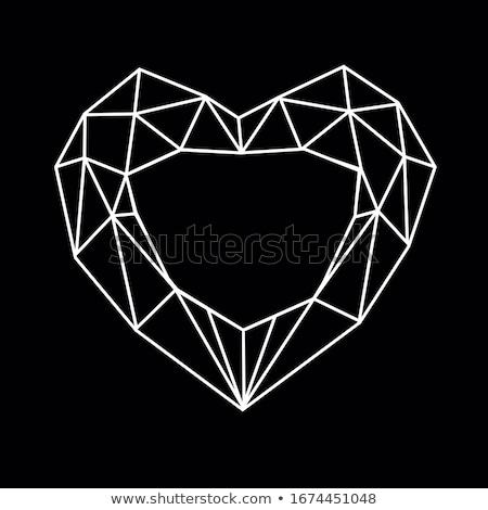 赤 ダイヤモンド アイコン 孤立した 白 コンピュータ ストックフォト © cidepix