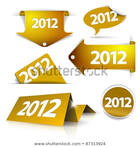 vector golden 2012 labels stickers pointers tags stock photo © orson